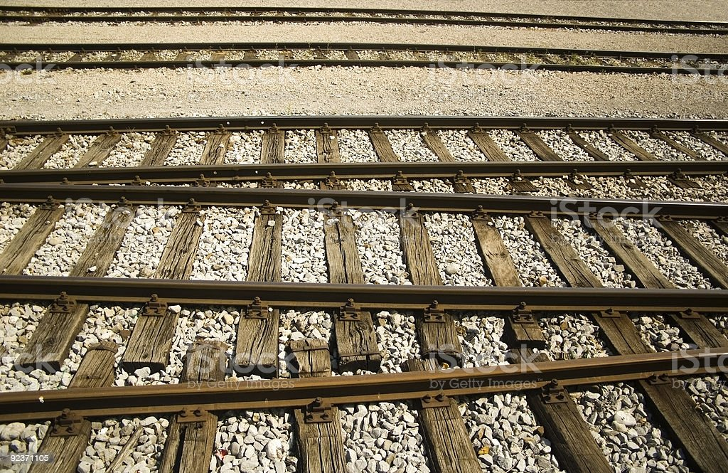 Rail tracks royalty-free stock photo