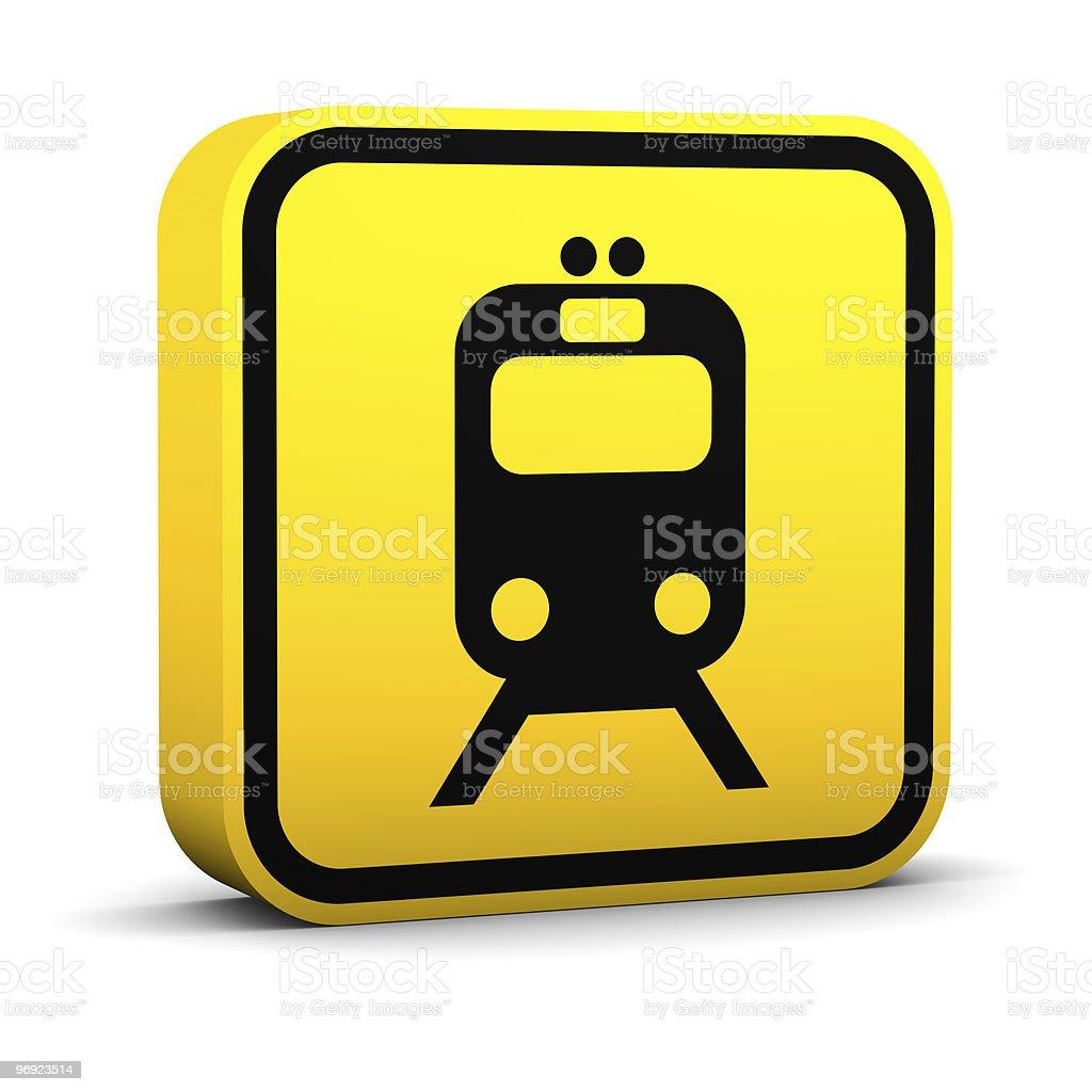 Rail Transportation Sign royalty-free stock photo