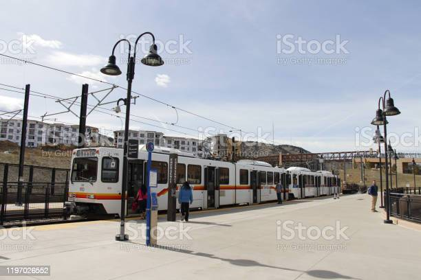 RTD Rail W line at Jefferson County Government Center - Golden Station