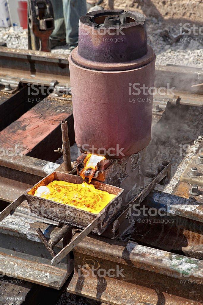 Rail Welds royalty-free stock photo
