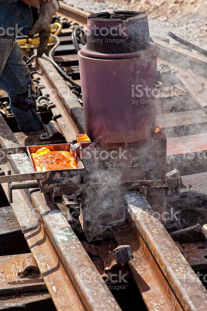 Rail Welds stock photo