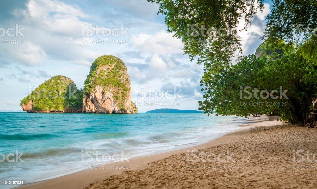 Railay beach in Krabi province, Thailand stock photo