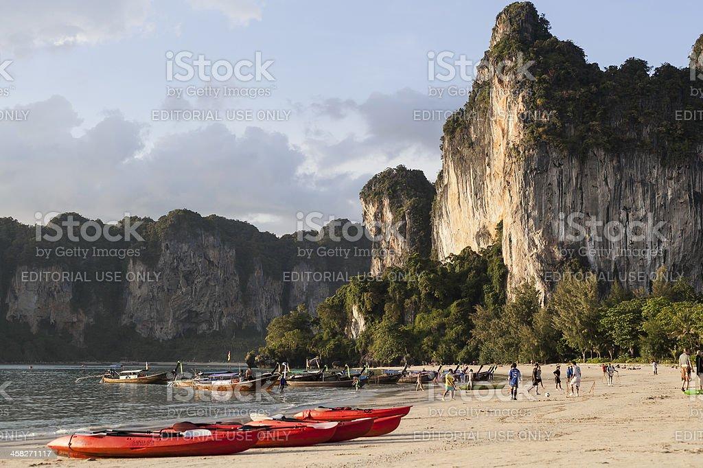Railay beach Thailand royalty-free stock photo
