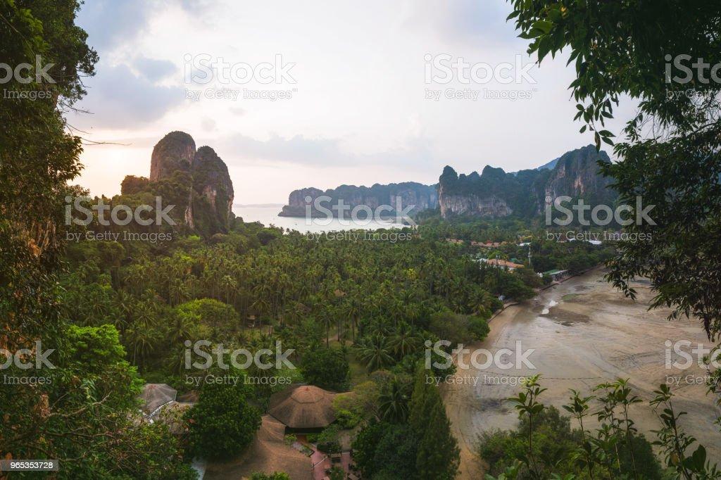 Railay East Beach, Krabi Province, Thailand zbiór zdjęć royalty-free