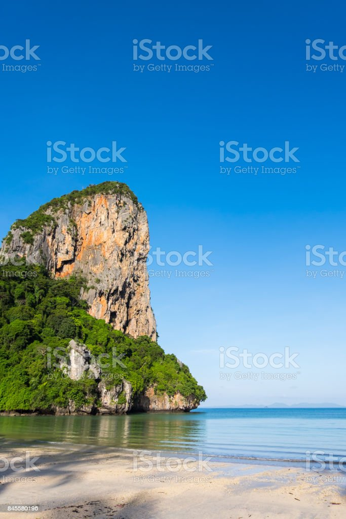 Railay west beach located at Krabi, Thailand stock photo