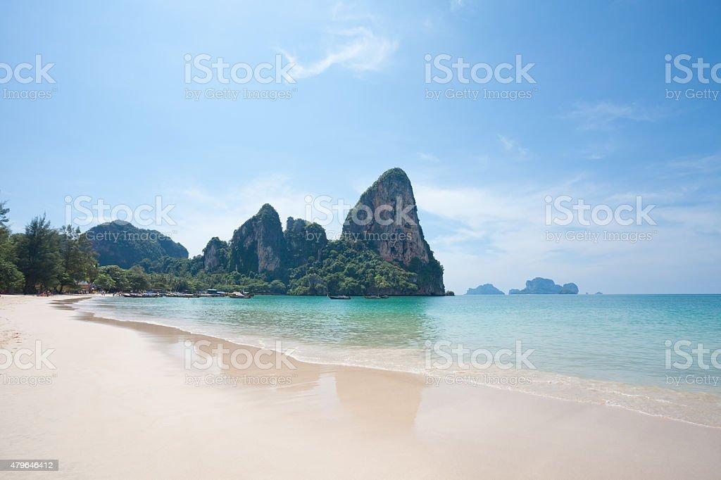 Railay West Beach, Thailand stock photo