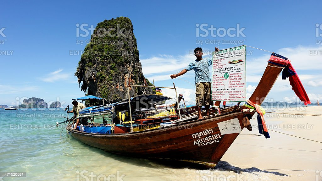 Railey beach Krabi Thailand stock photo