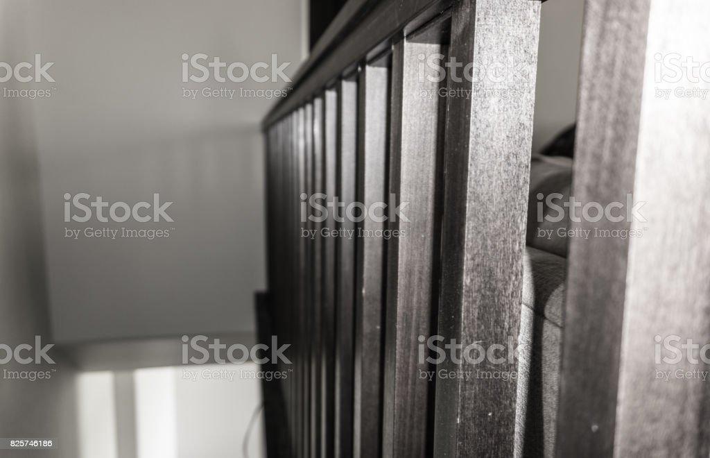 Railing - Black and White stock photo