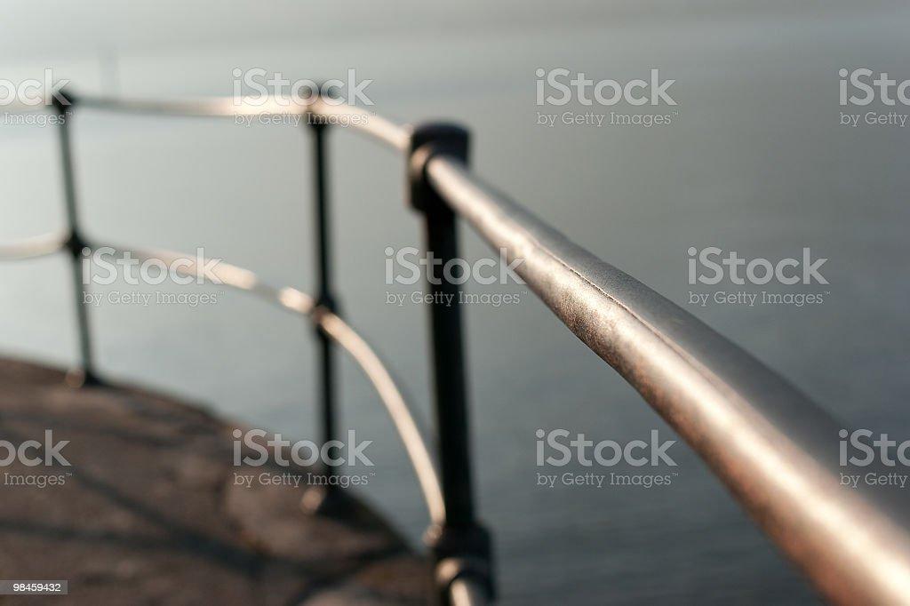 Railing On The Lake royalty-free stock photo