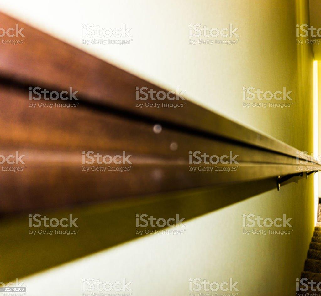 Railing to the basement stock photo