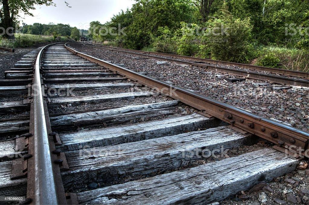 Railroad and train stock photo