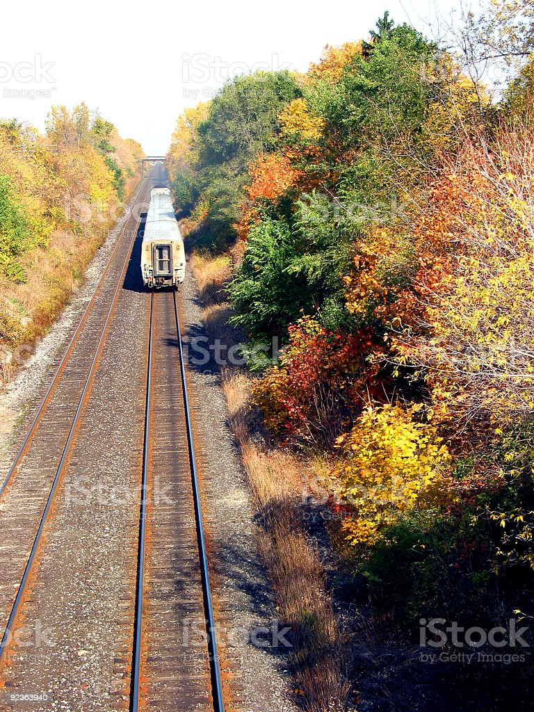 Railroad and train royalty-free stock photo