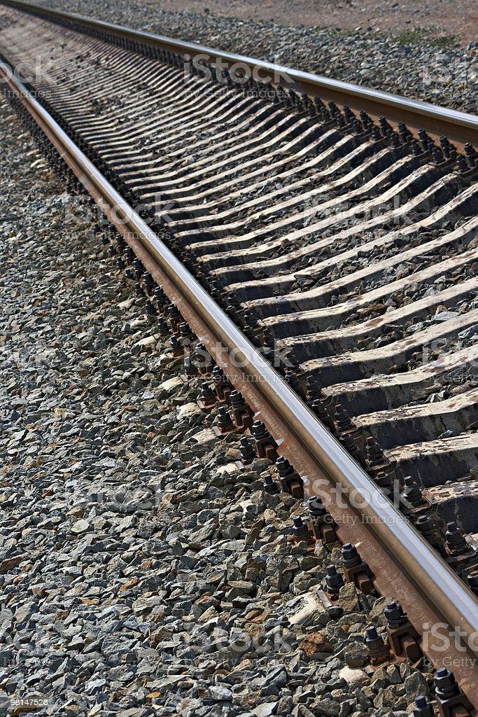 Railroad at noon royalty-free stock photo