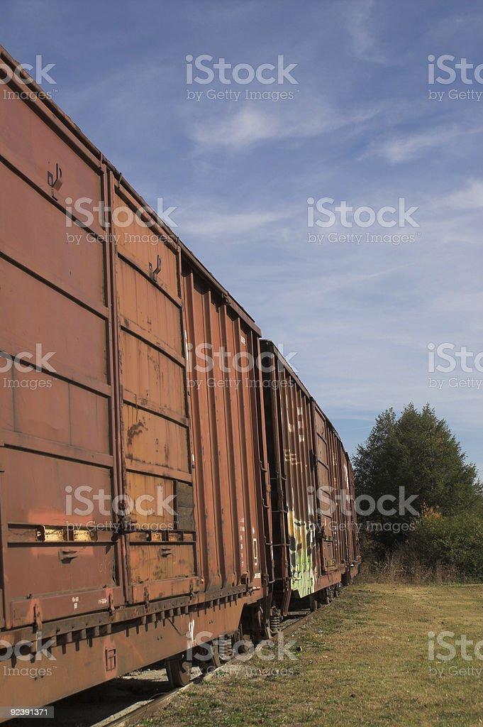 Railroad Boxcars royalty-free stock photo