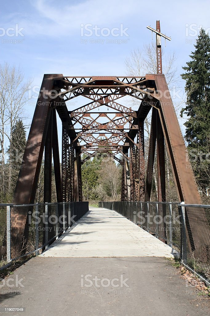 Railroad Bridge Hiking Trail stock photo