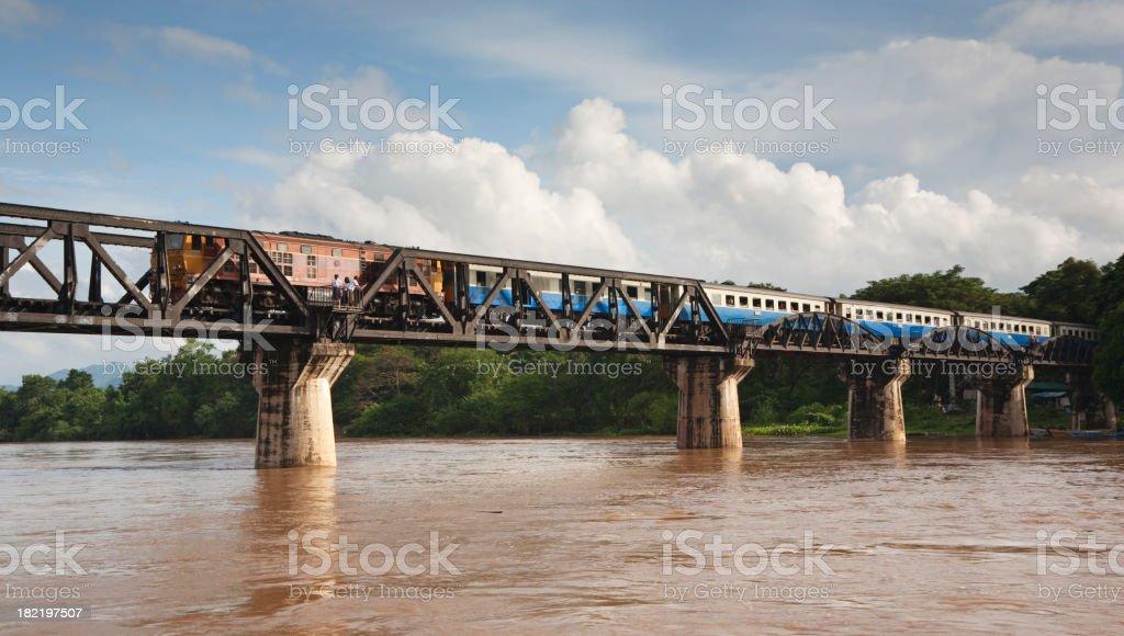 Railroad bridge in Thailand royalty-free stock photo