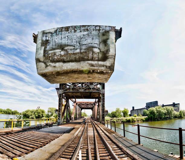 Railroad Bridge over the Buffalo River stock photo
