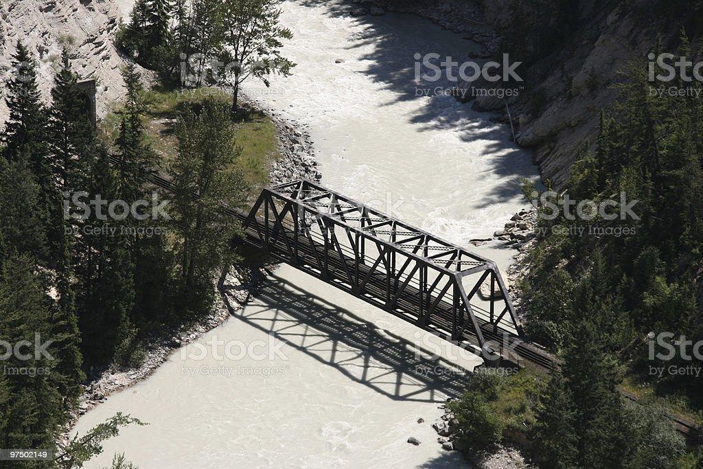 Railroad bridge royalty-free stock photo