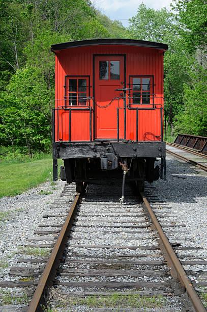 Railroad Caboose, Rear View stock photo