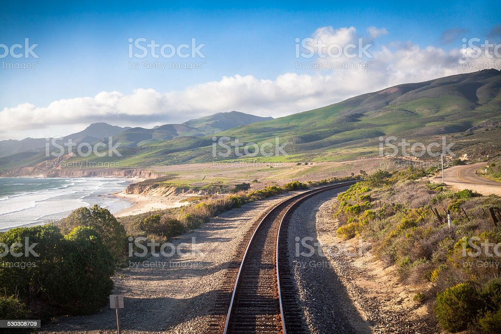 Railroad, Central California Coast stock photo