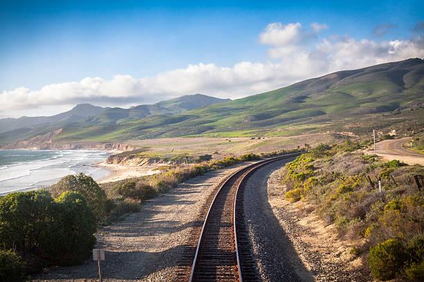 railroad, central california coast - central coast california stock photos and pictures