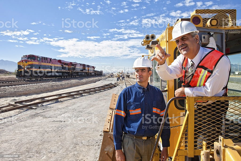Railroad Construction stock photo