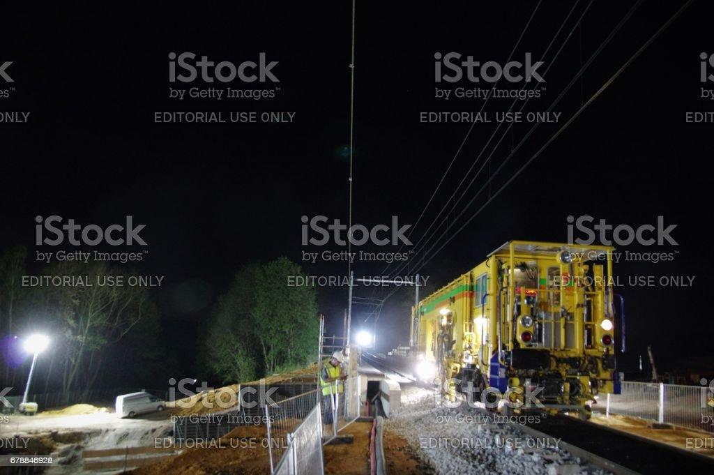 Demiryolu inşaat royalty-free stock photo