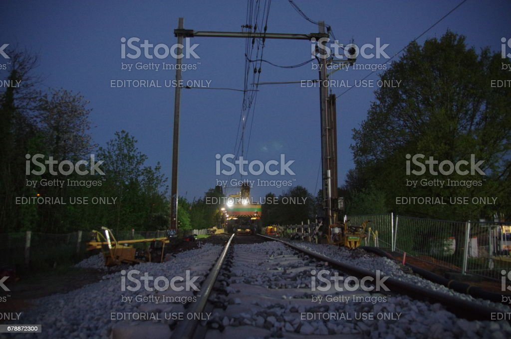 La construction du chemin de fer photo libre de droits