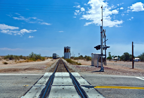 railroad crossing at route  95 near the village Vidal