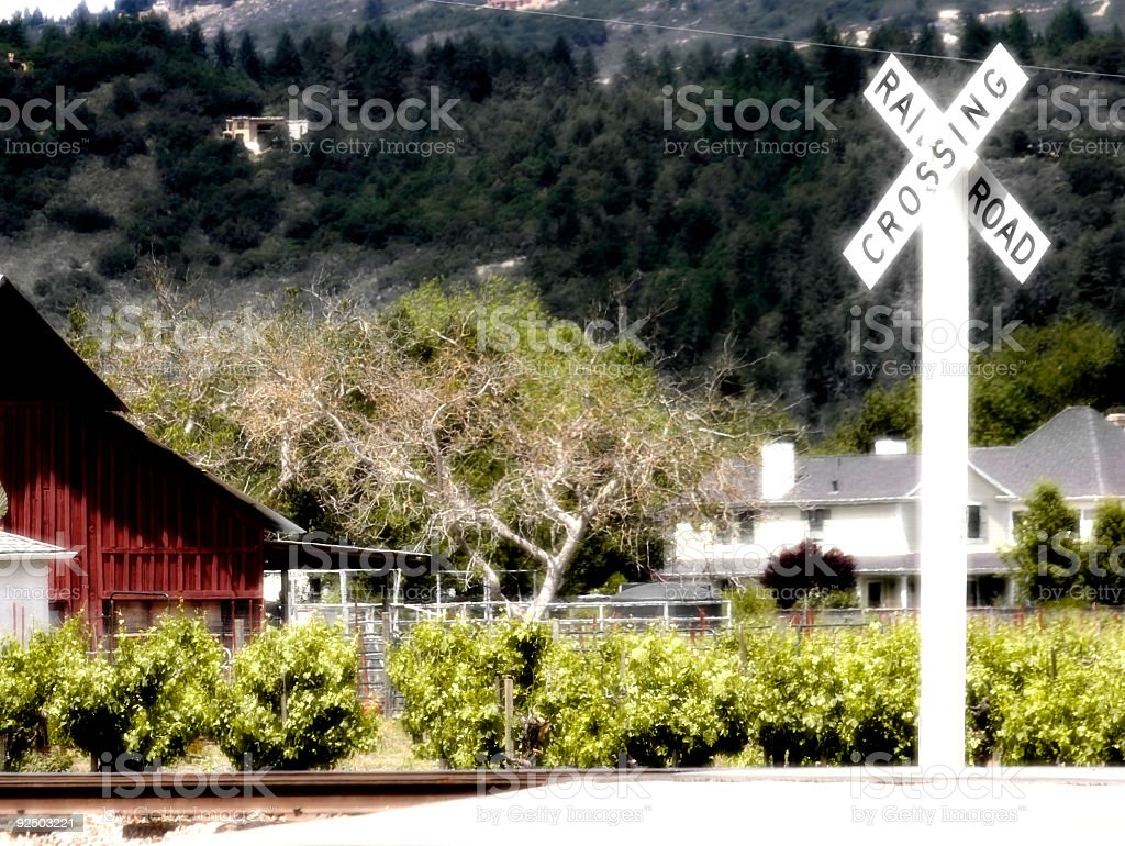 Railroad Crossing - Dreaming of Travel royalty-free stock photo