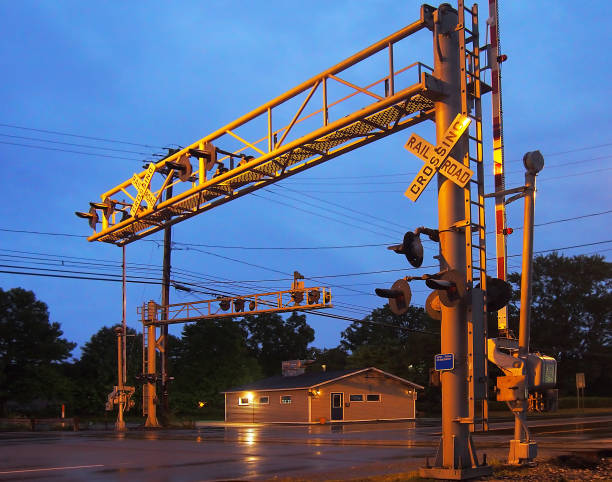 Best Railroad Crossing Gate Stock Photos, Pictures & Royalty