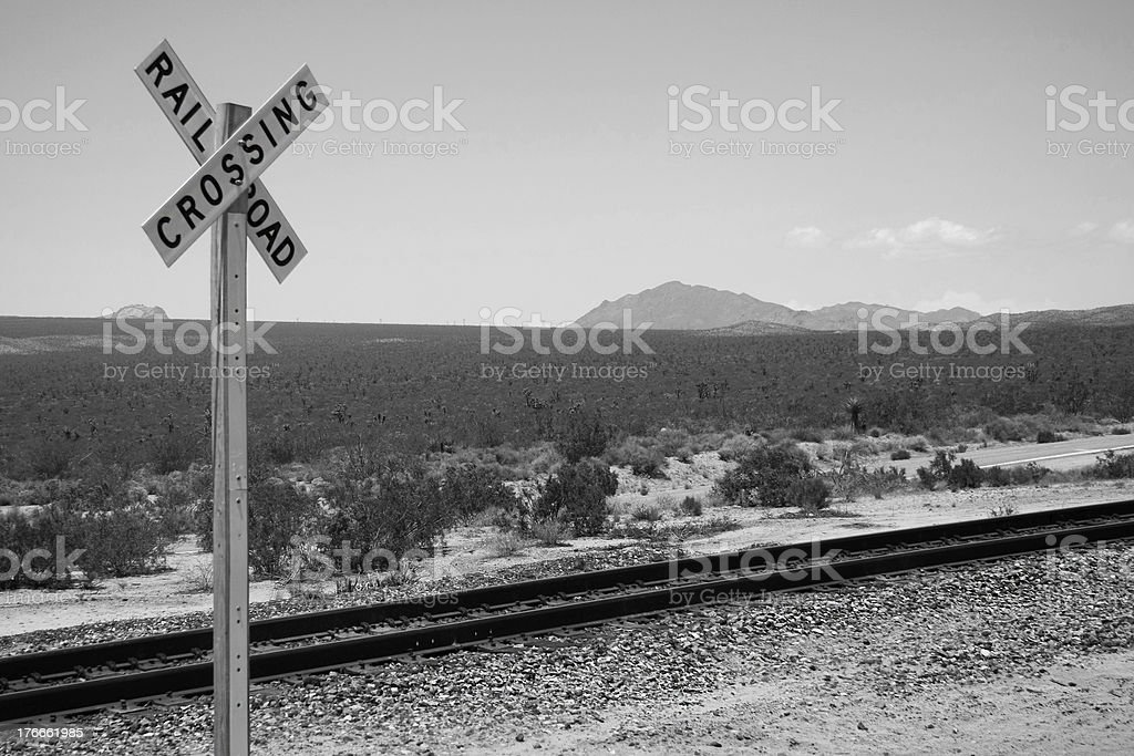 Railroad Crossing royalty-free stock photo