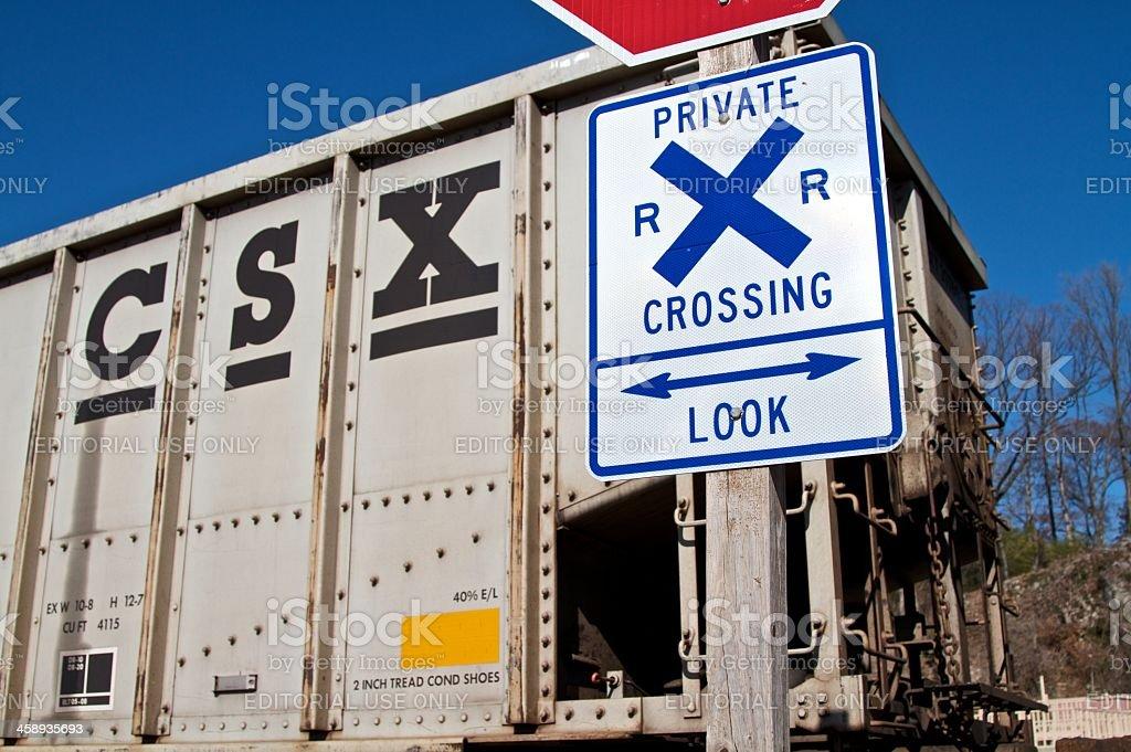 CSX Railroad crossing stock photo