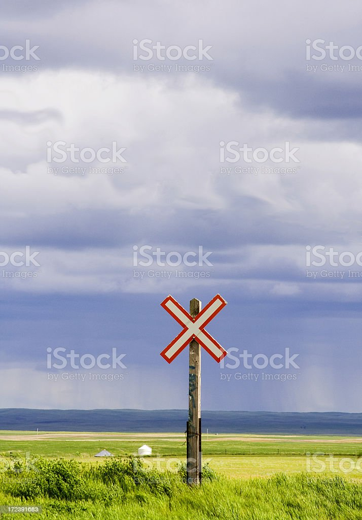 Railroad Crossing Sign royalty-free stock photo