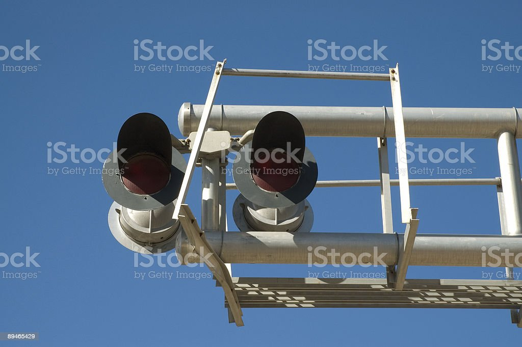 Railroad Crossing Signal royalty-free stock photo