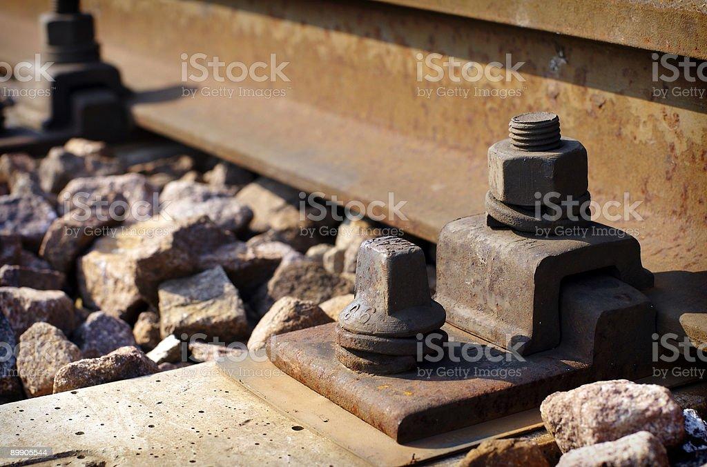 railroad detail - 1 royalty-free stock photo