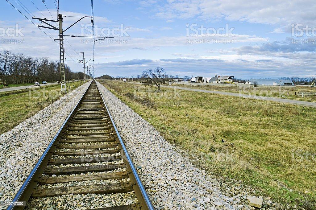 Railroad Embankment stock photo