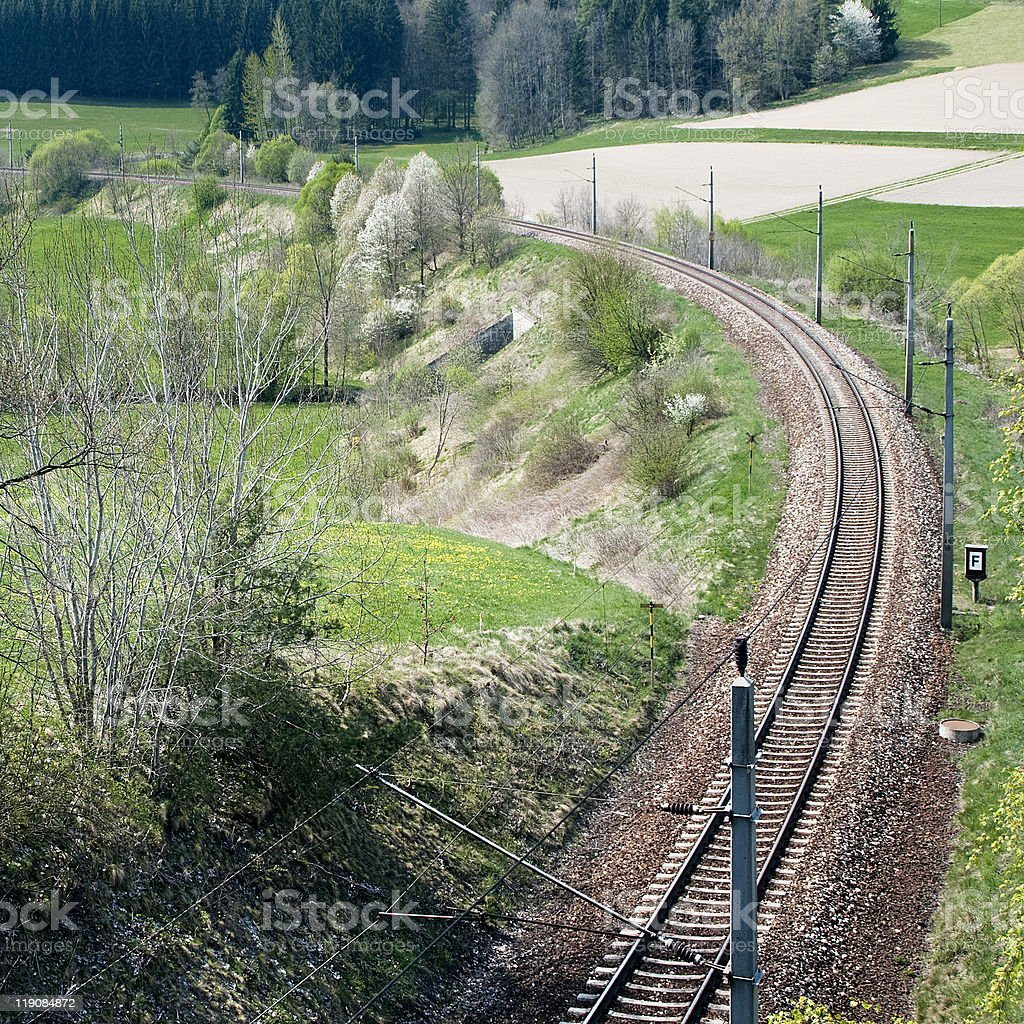 Railroad in the Landscape royalty-free stock photo