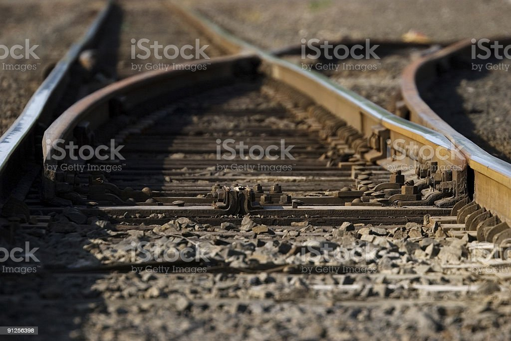 Railroad Junction royalty-free stock photo
