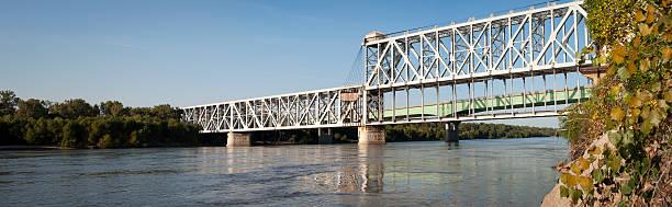 Railroad Lift Bridge stock photo