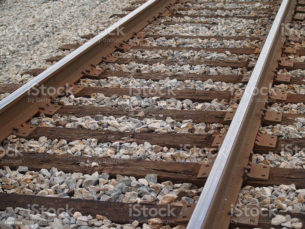 Railroad Main Line stock photo