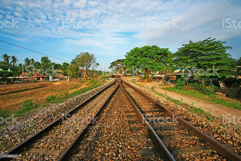 Railroad on countryside royalty-free stock photo