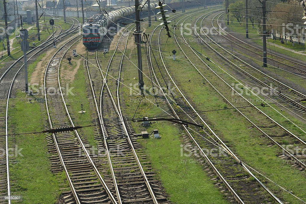 railroad royalty-free stock photo