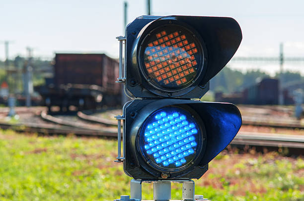 railroad semaphore - railway signal stock photos and pictures
