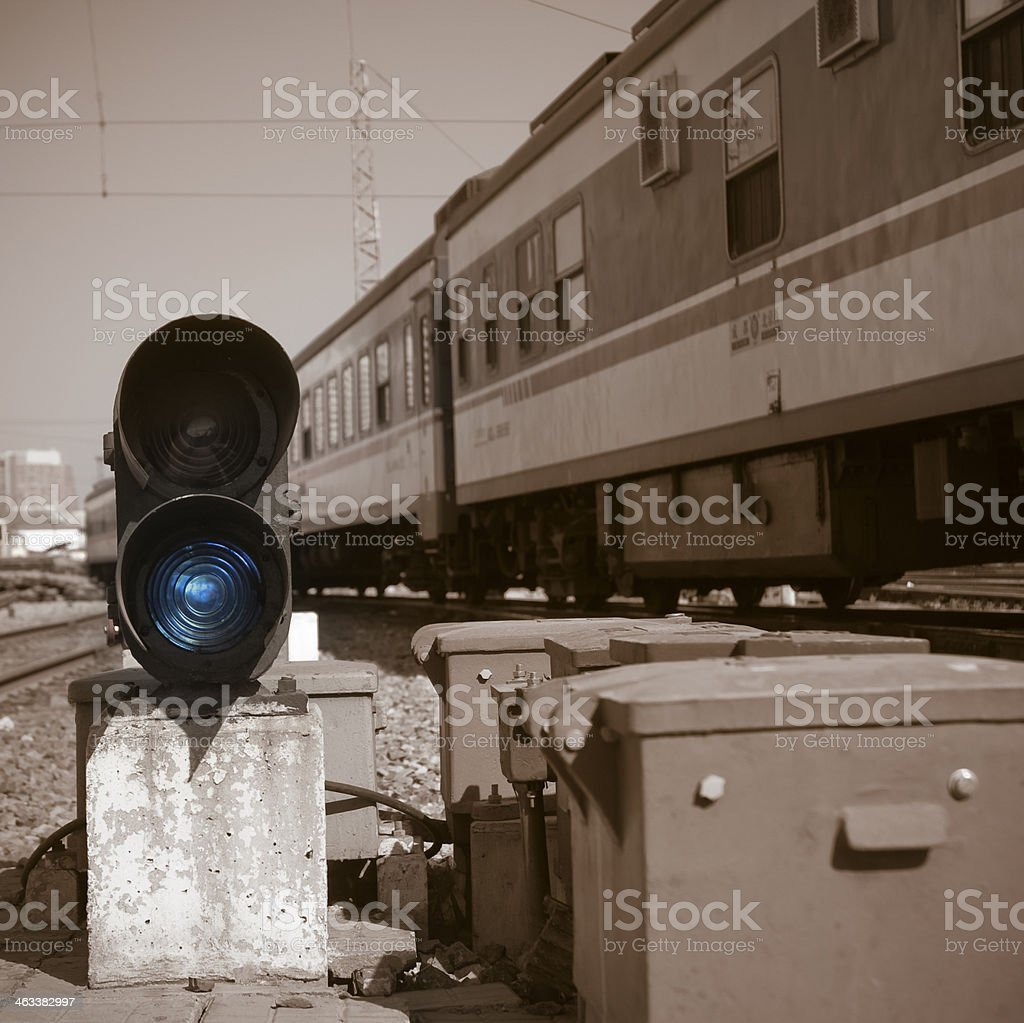 Railroad sign royalty-free stock photo