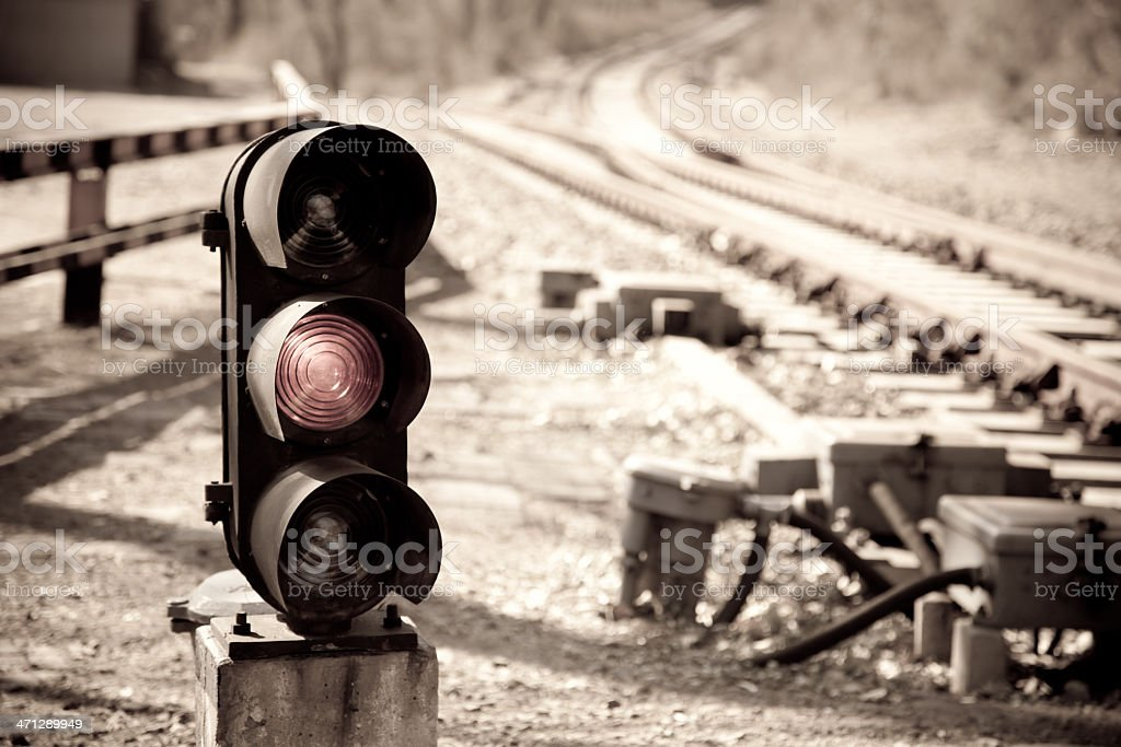 Railroad sign stock photo
