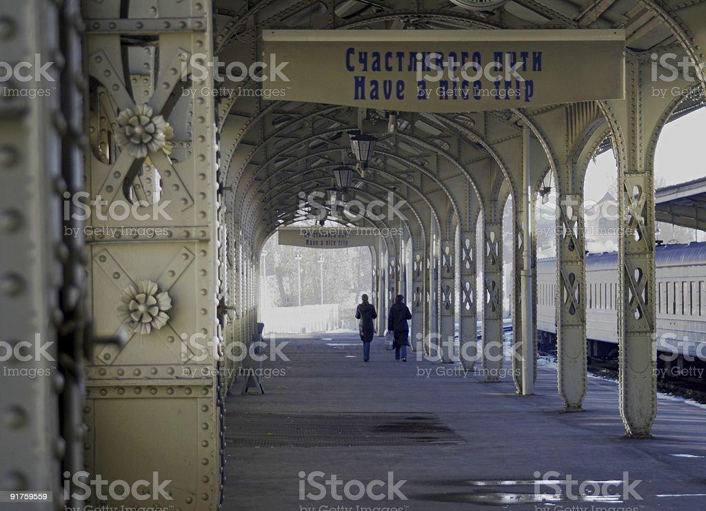 Railroad station - 4 stock photo