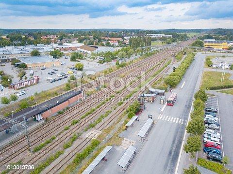 172864410istockphoto Railroad station, bus, traffic, Rotebro, Sollentuna, Stockholm 1013013786