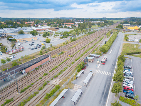 172864410 istock photo Railroad station, bus, traffic, Rotebro, Sollentuna, Stockholm 1013013786