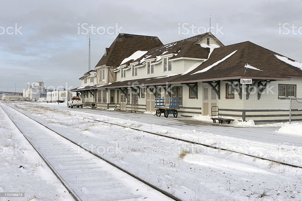 Railroad Station Churchill Manitoba Canada stock photo